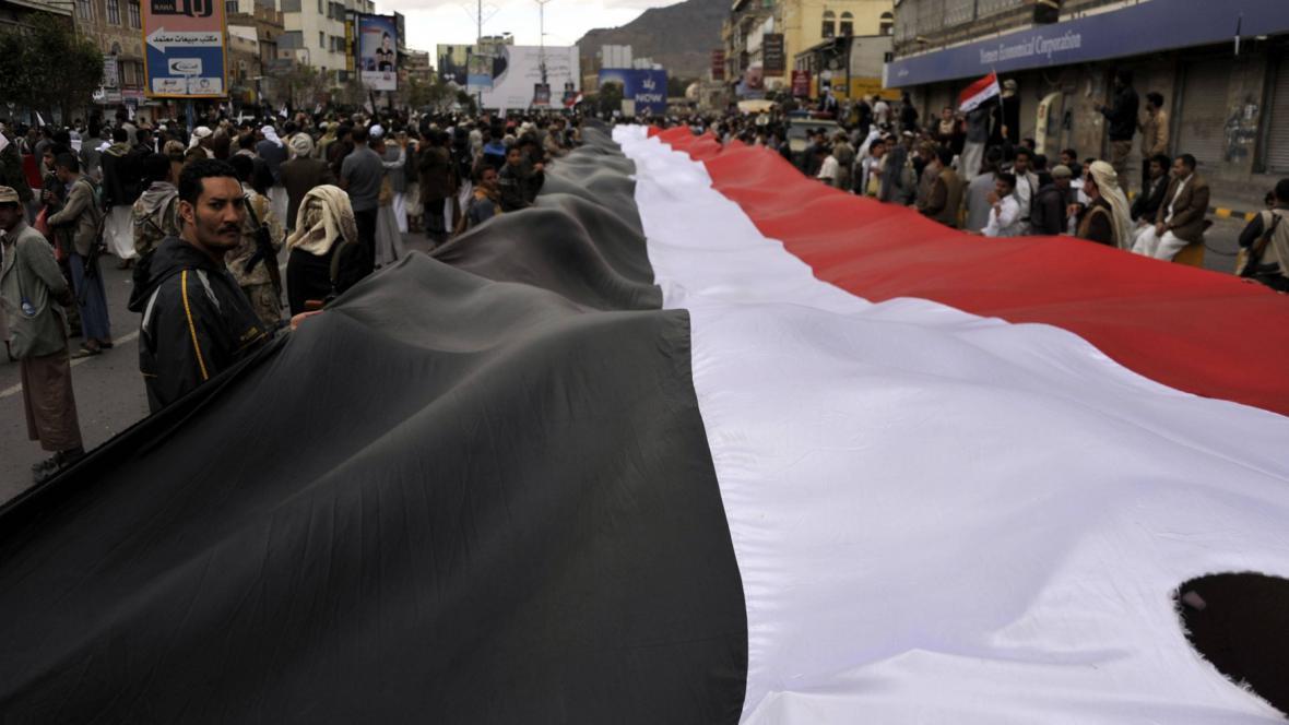 Jemenské protesty proti náletům Saúdské Arábie