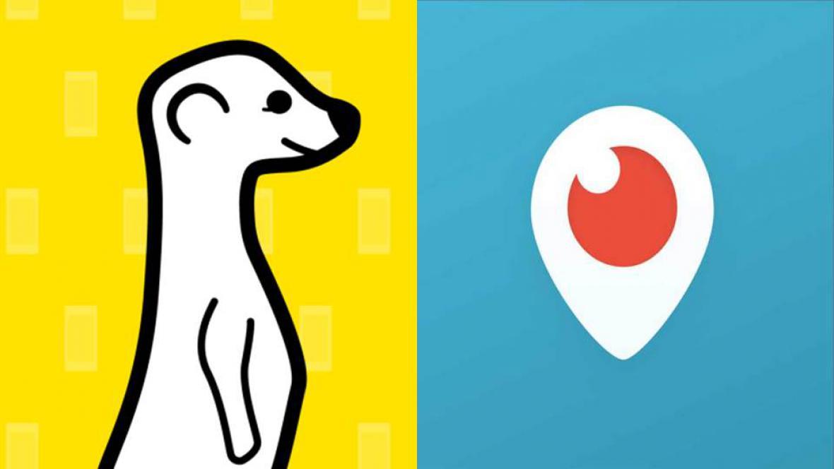 Stanou se Meerkat (vlevo) a Periscope (vpravo) novým trendem sociálních sítí?