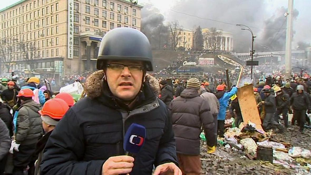 Josef Pazderka jako zpravodaj na Ukrajině
