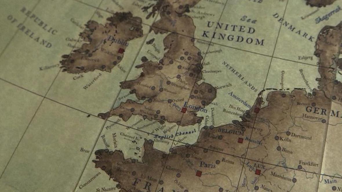 Mapa pro ručně vyráběný glóbus
