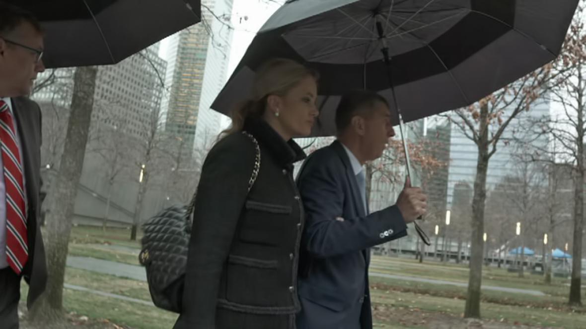 Andrej Babiš s manželkou Monikou v New Yorku