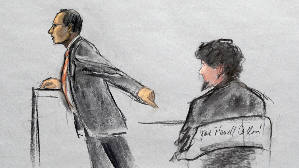 Kresba ze soudního líčení