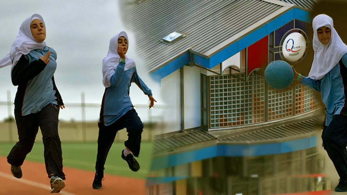 Dívčí tělocvik na škole Al-Taqwa