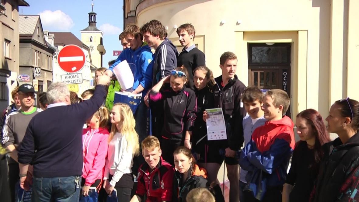Maratonská štafeta v Jilemnici