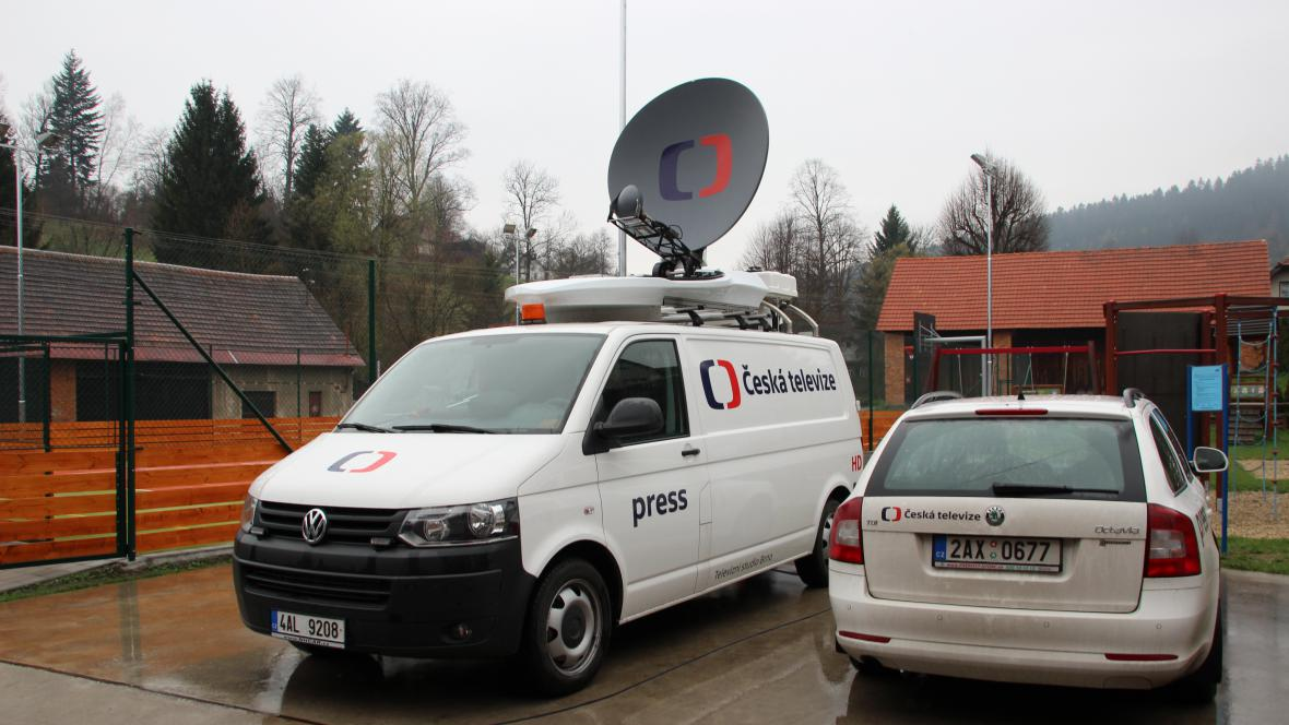 SNG před vysíláním