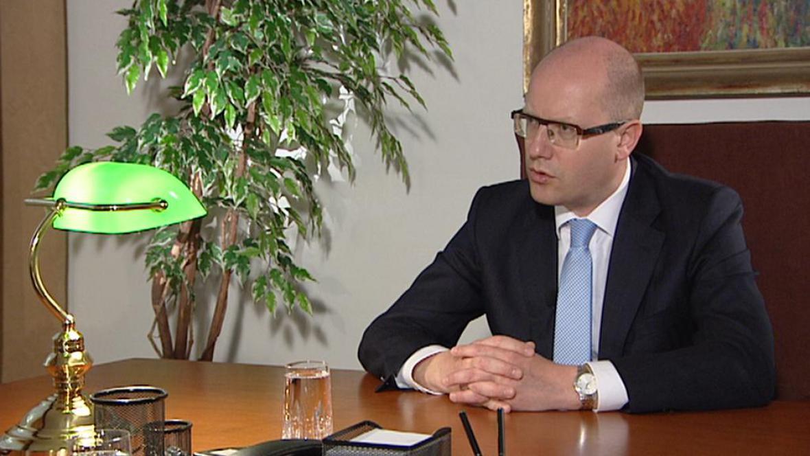 Premiér Bohuslav Sobotka (ČSSD)