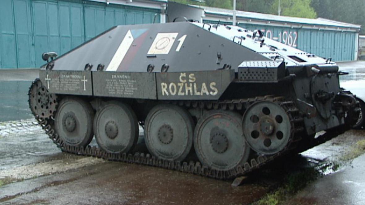 Ukořistěný stíhač tanků Hetzer