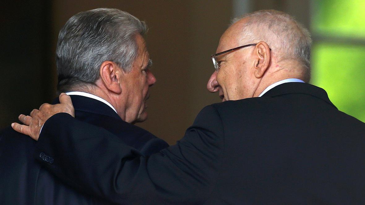 Joachim Gauck a Reuven Rivlin