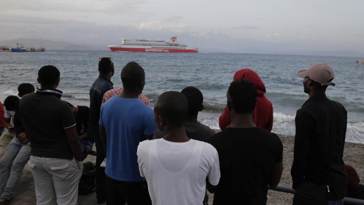 Uprchlíci na ostrově Kos