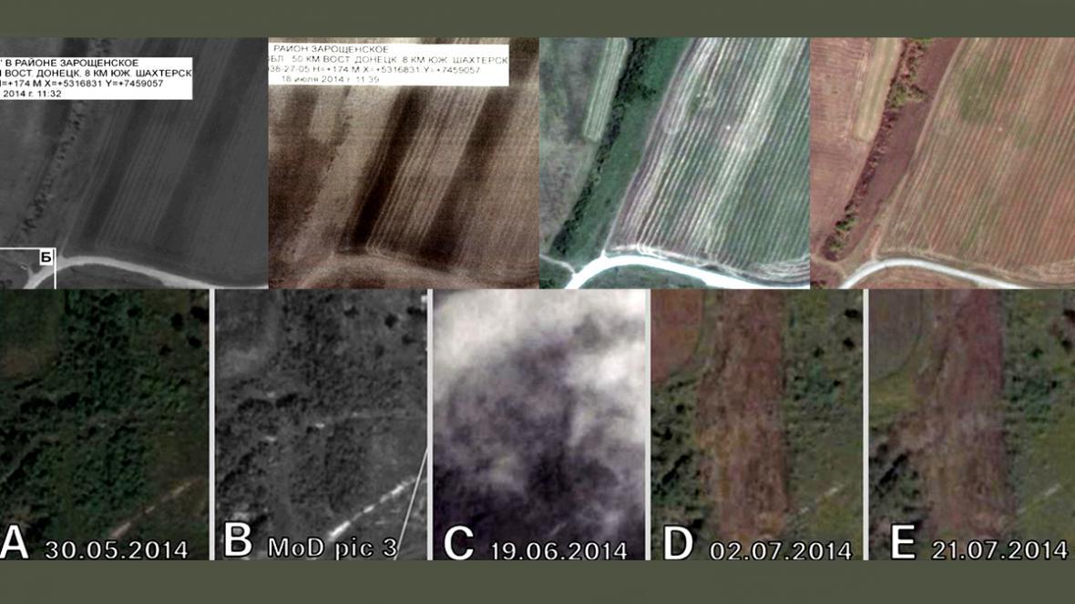 Skupina Bellingcat analyzovala ruské satelitní snímky z Ukrajiny