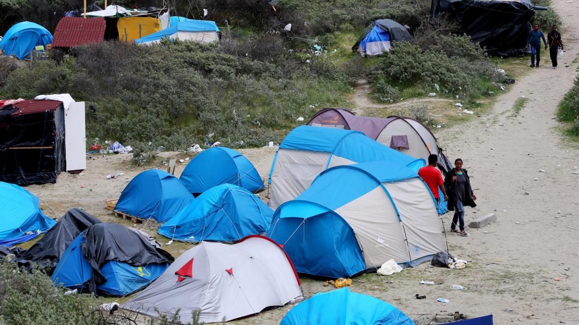 Tábořiště uprchlíků v Calais