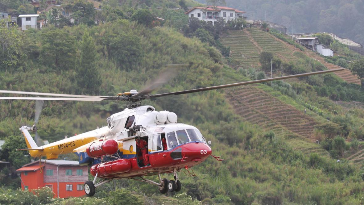 Záchranné akce po zemětřesení na malajsijské hoře Kinabalu