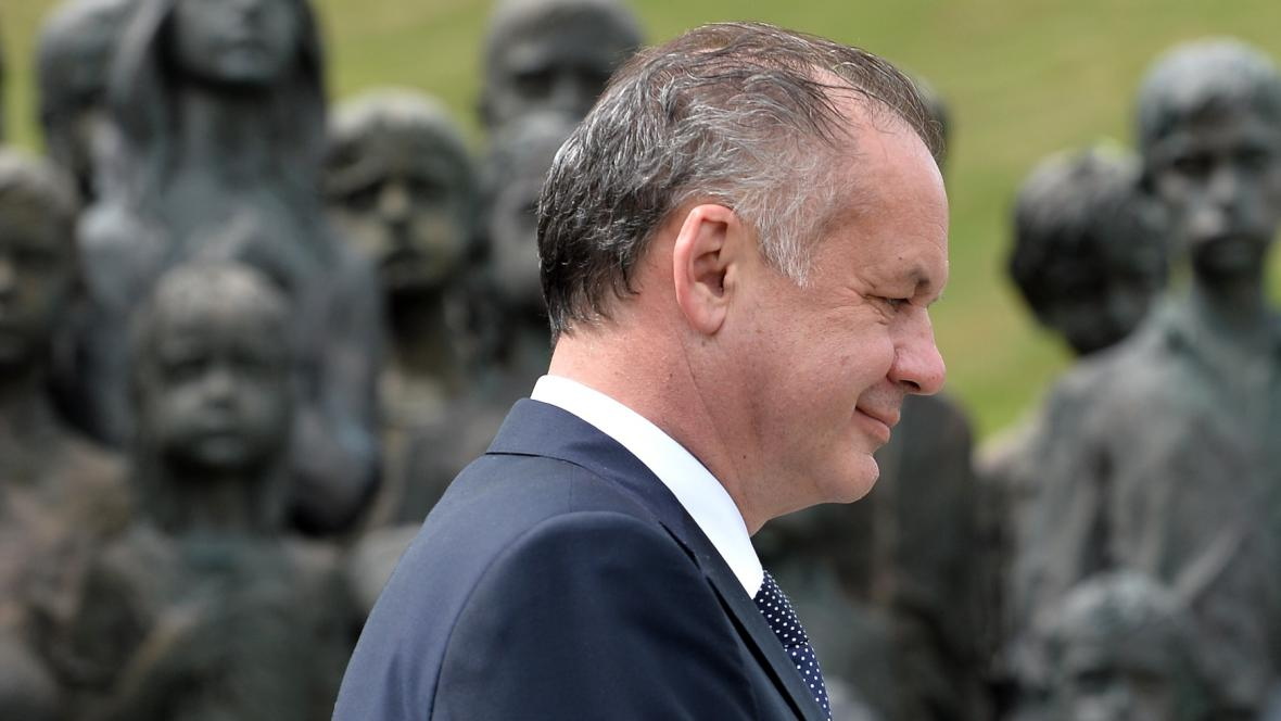Prezident Andrej Kiska v Lidicích