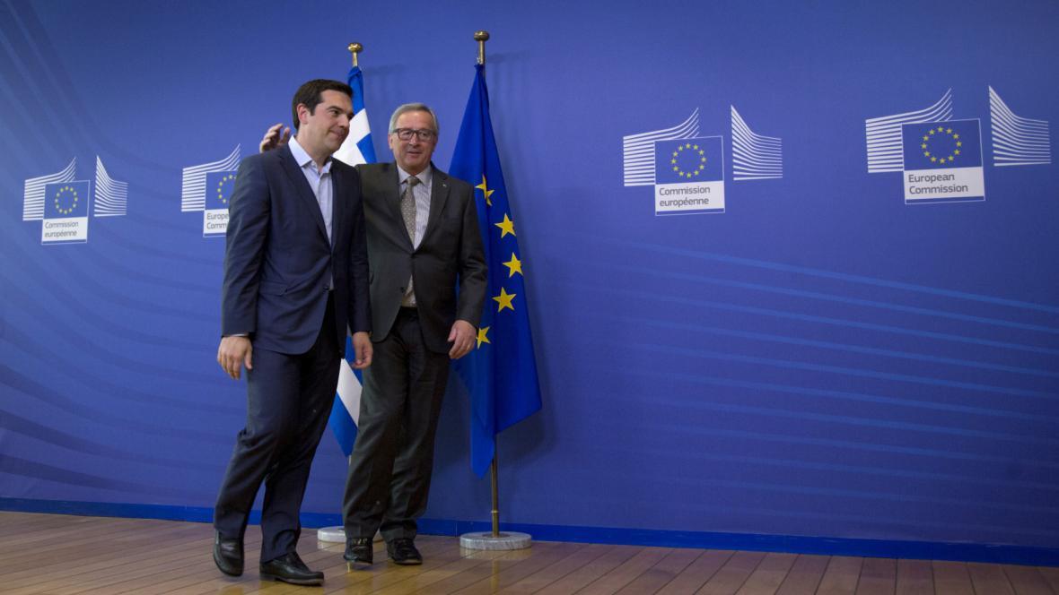 Alexis Tsipras a Jean-Claude Juncker