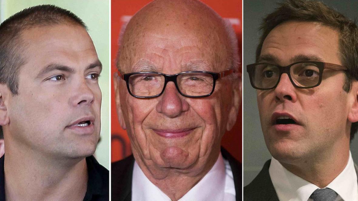 Ruppert Murdoch se syny