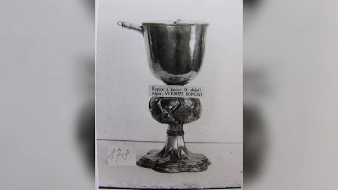 Kalich pro společné přijímání ze sbírky litoměřického muzea