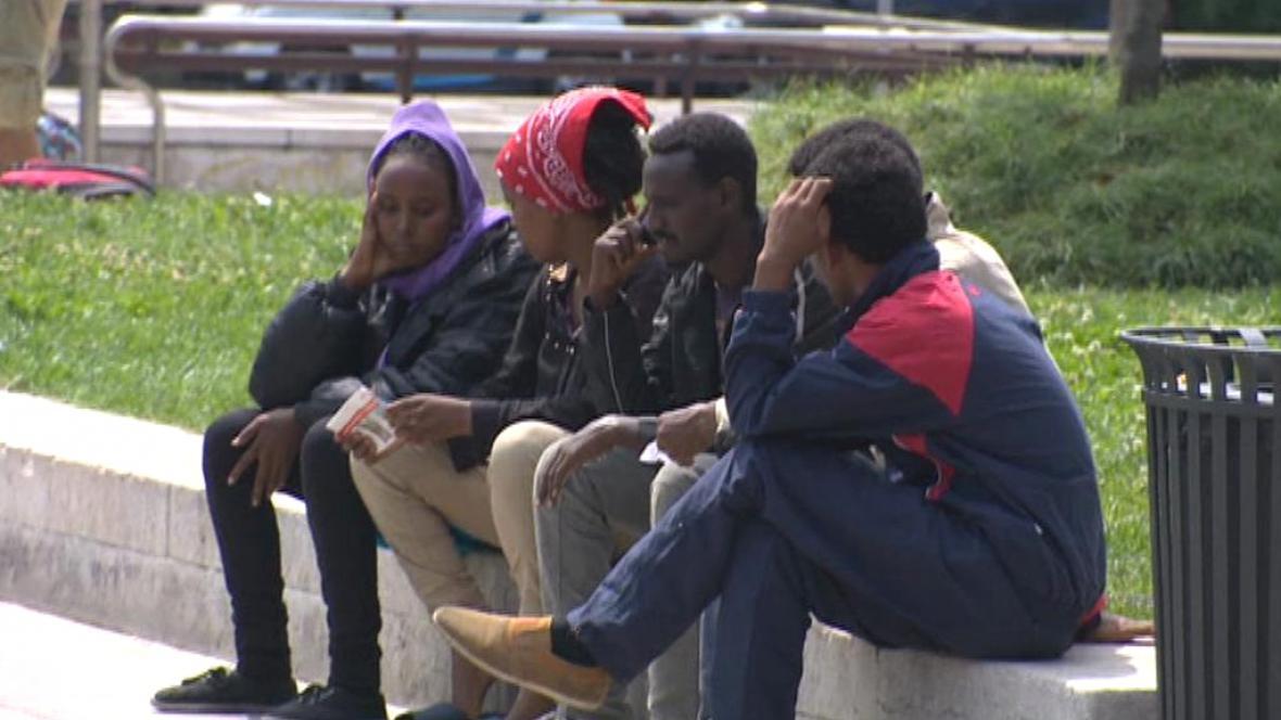 Uprchlíci v Miláně
