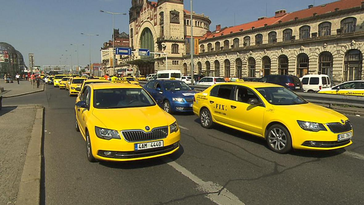 Protest taxikářů