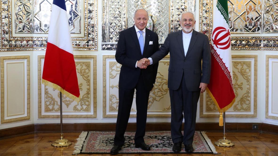 Laurent Fabius a Mohammad Džavád Zaríf
