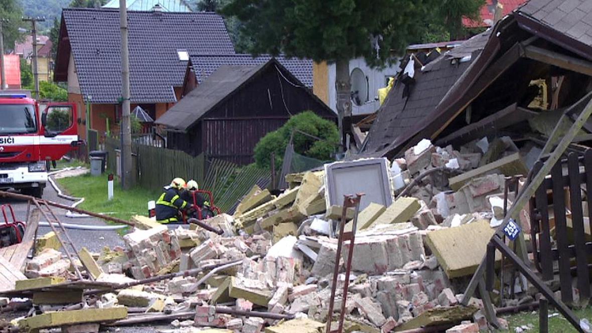 Výbuch domu v Jílovém