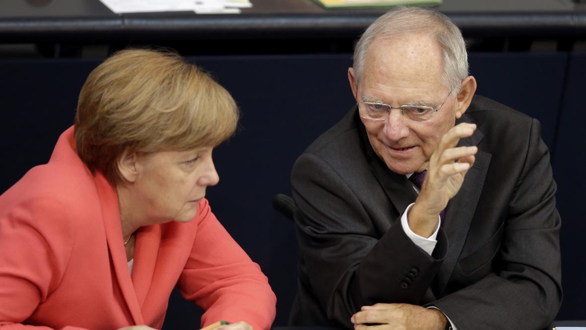 Německá kancléřka Angela Merkelová a její ministr financí Wolfgang Schäuble