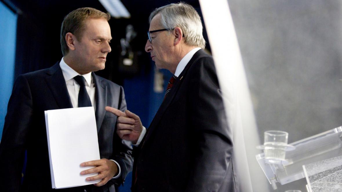 Donald Tusk a Jean-Claude Juncker