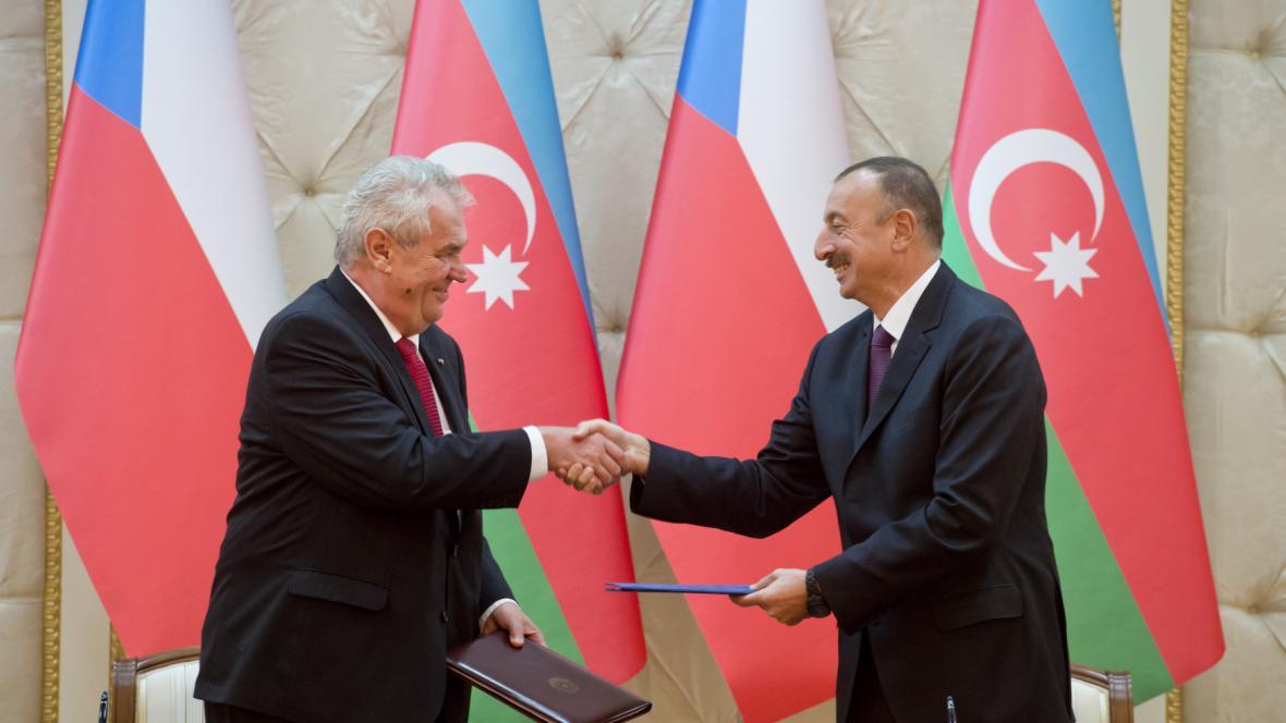 Miloš Zeman a Ilham Alijev