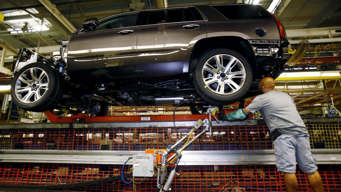 Výroba aut v General Motors v Texasu