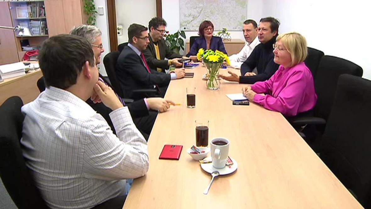 Schůzka zástupců současné koalice