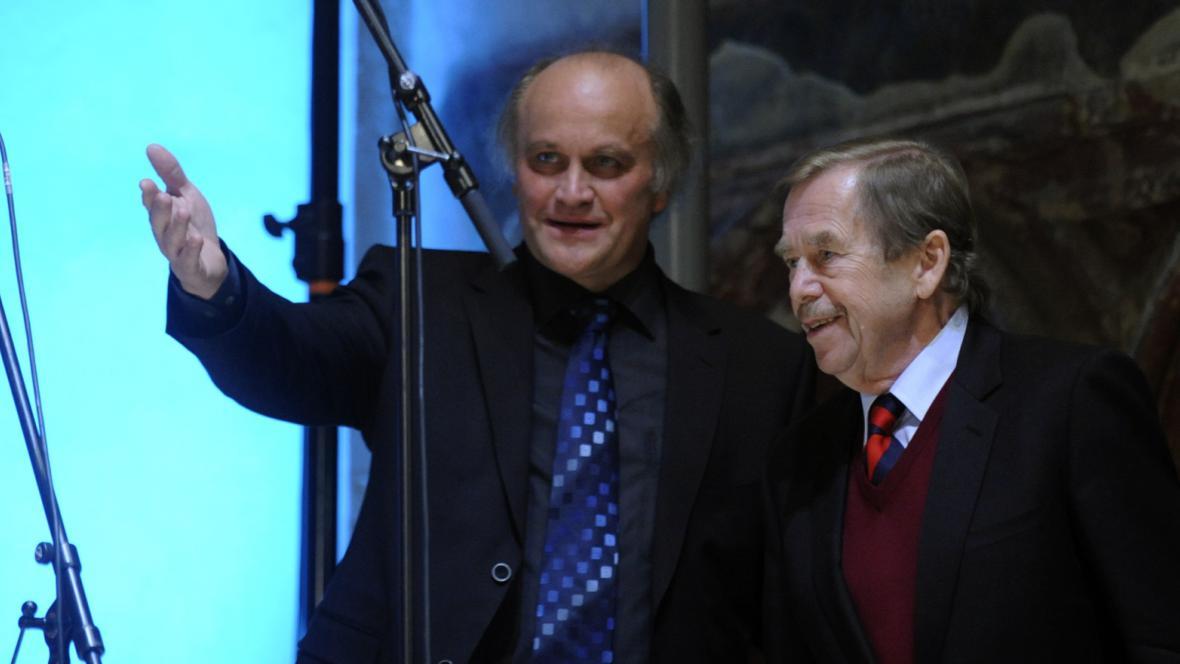 Michael Kocáb a Václav Havel
