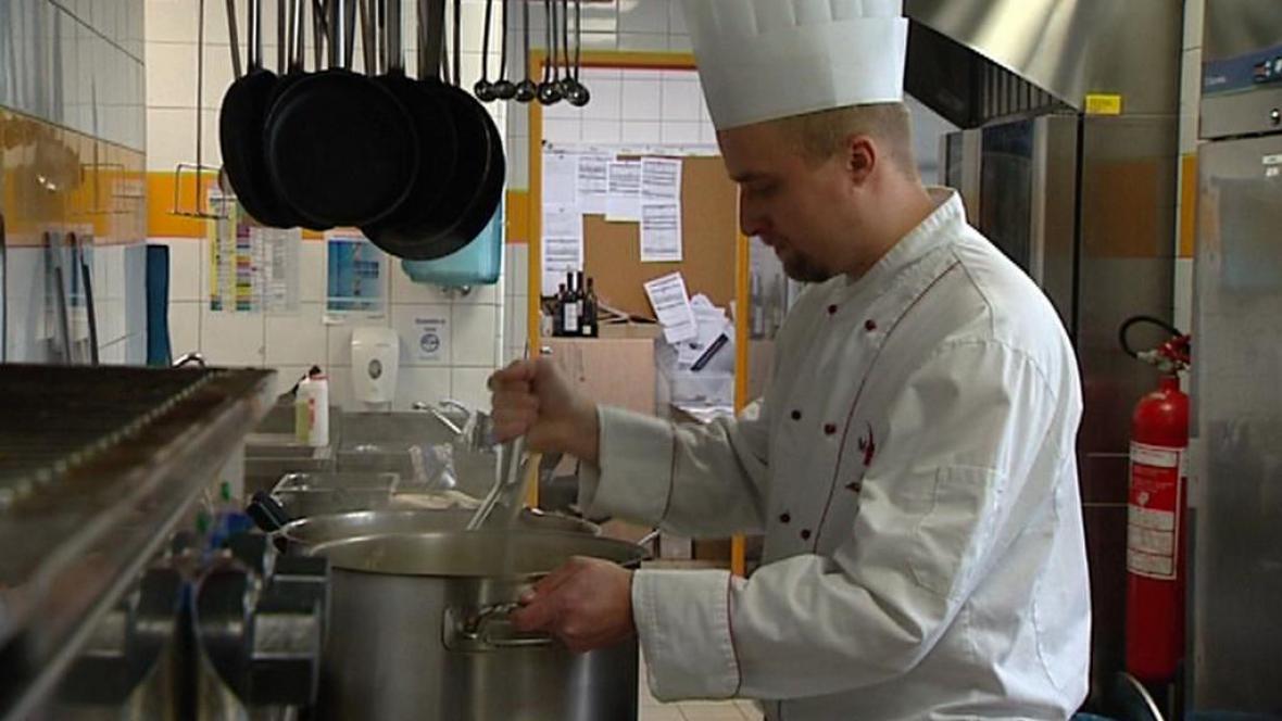 Kuchař v restauraci