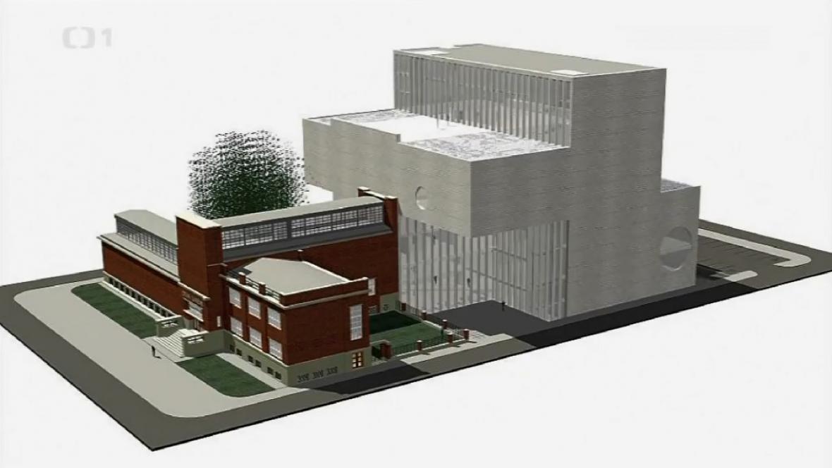 Návrh přístavby Domu umění v Ostravě