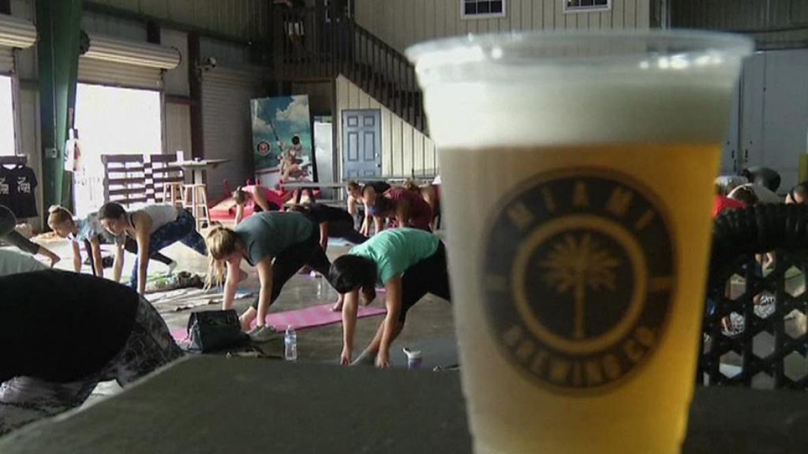 Cvičení v kulisách pivovaru