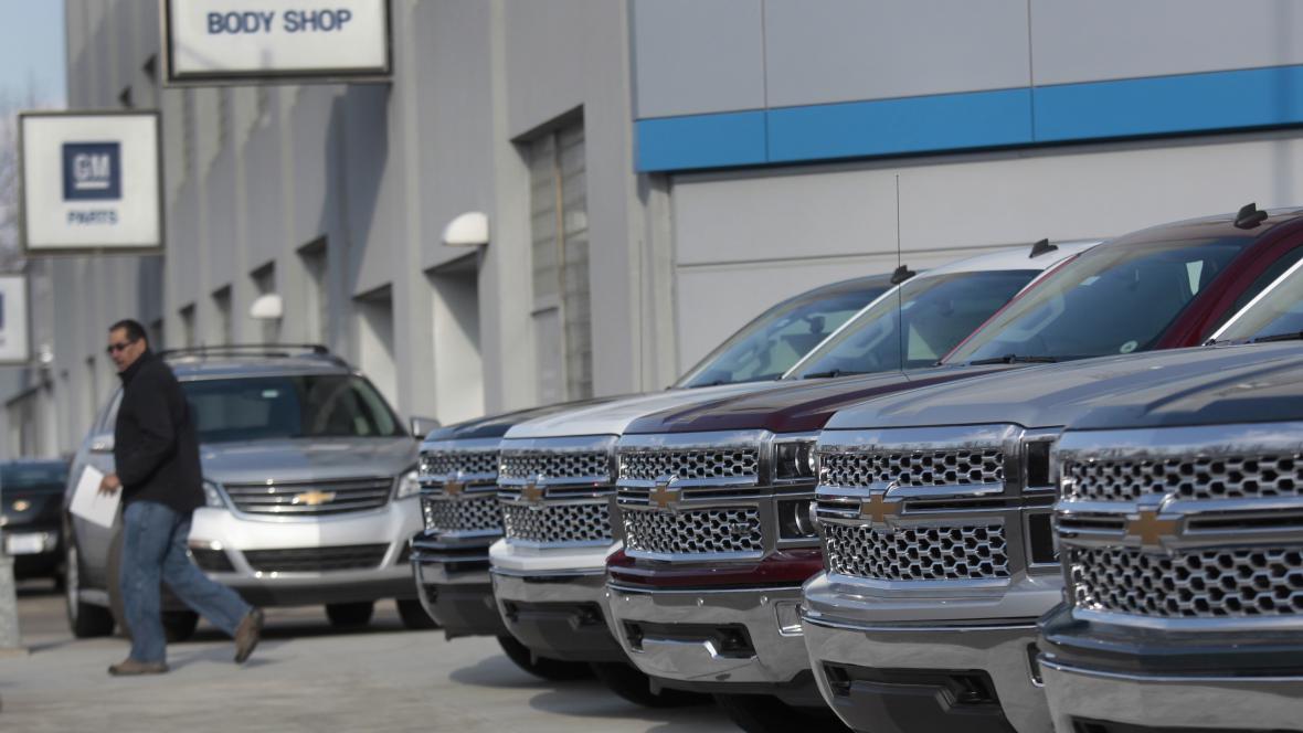 Prodej vozů General Motors v Detroitu