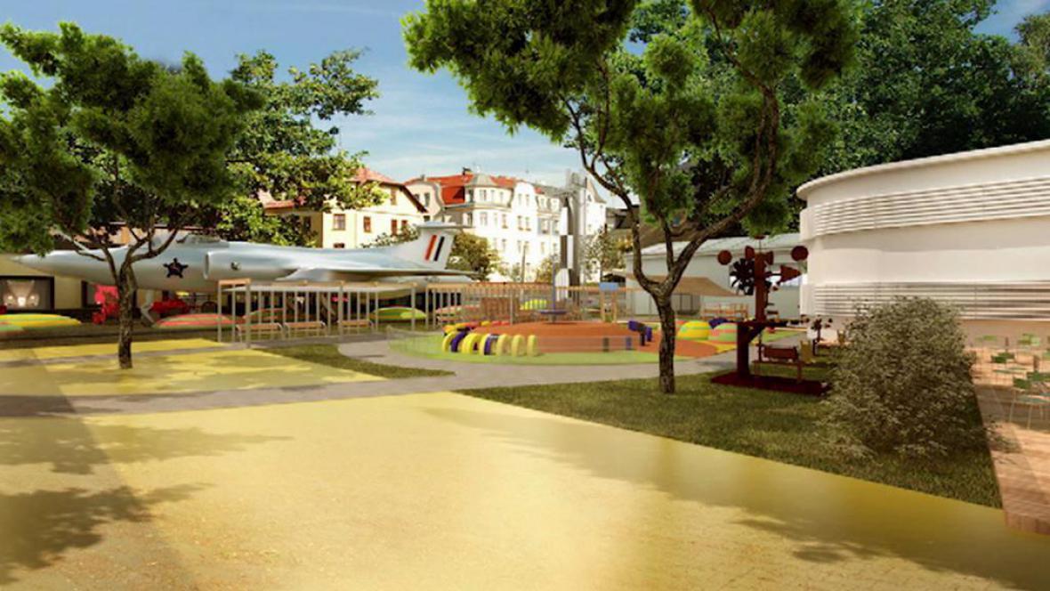 Model plánovaného technoparku