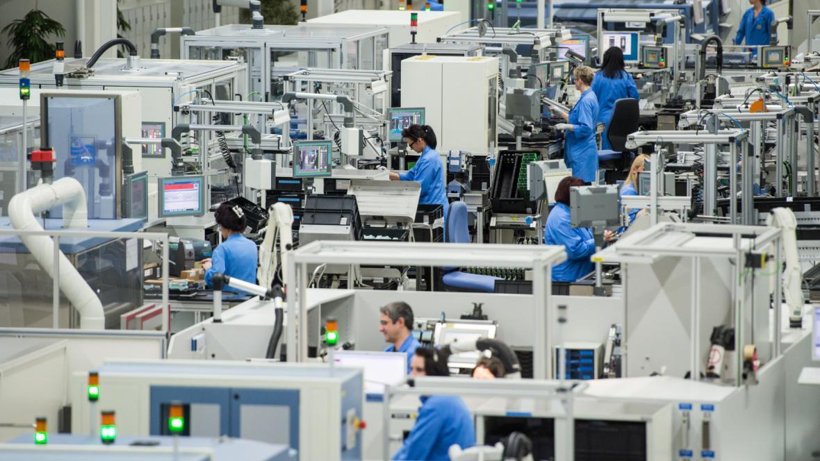 Produkce v továrně Siemens v Německu