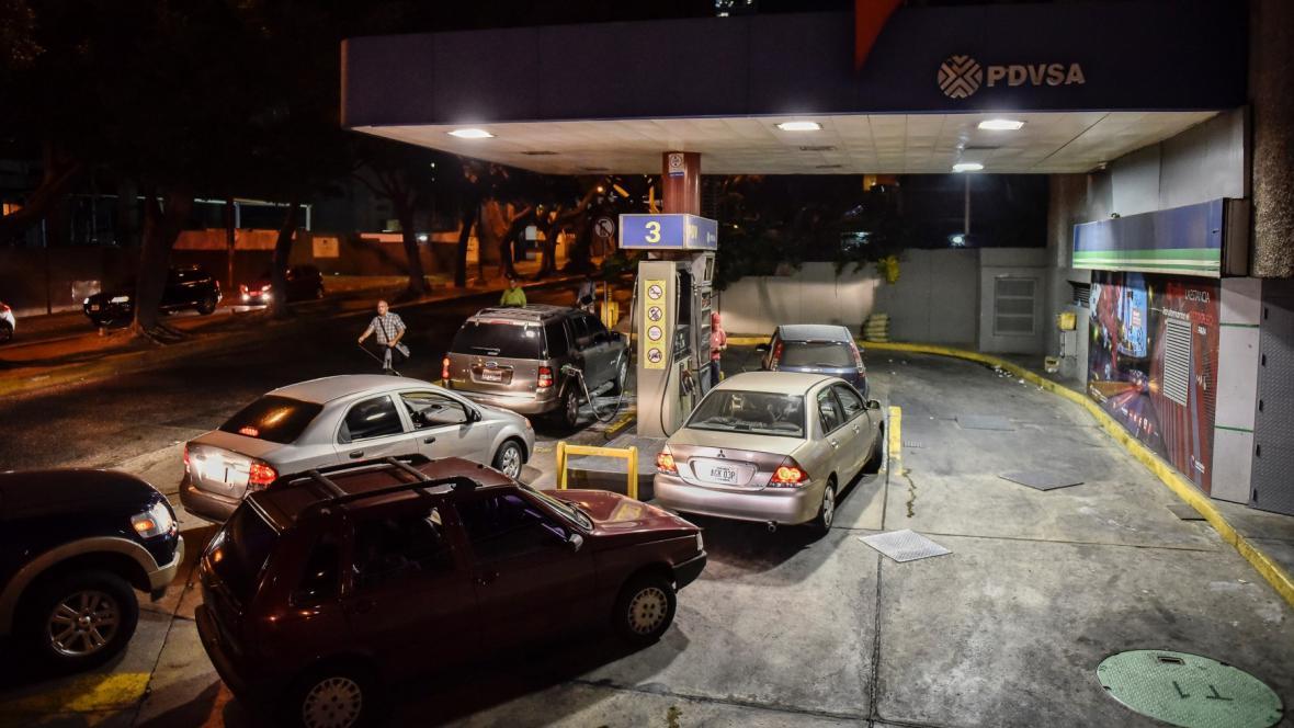 Čerpací stanice ve Venezuele
