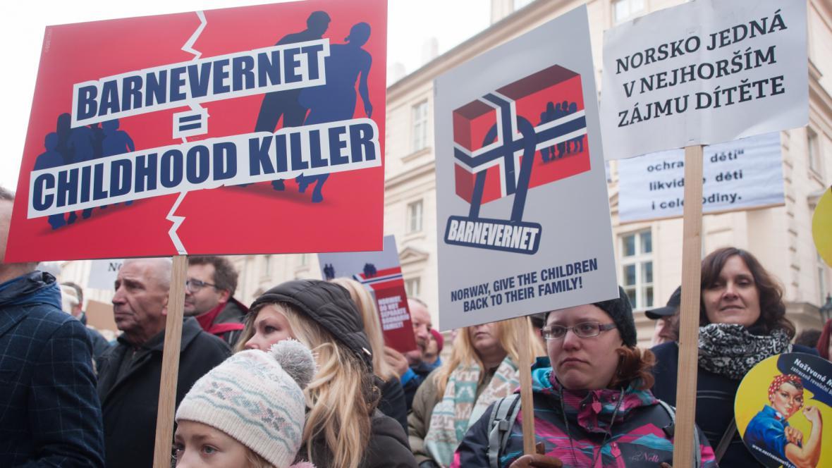 Lednová demonstrace proti Barnevernetu