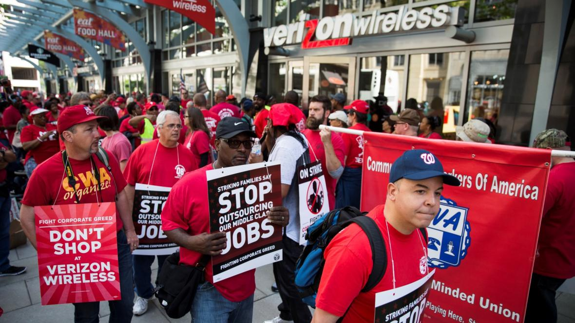 Stávka zaměstnanců Verizon