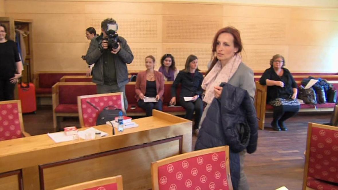 Eva Michaláková u norského soudu