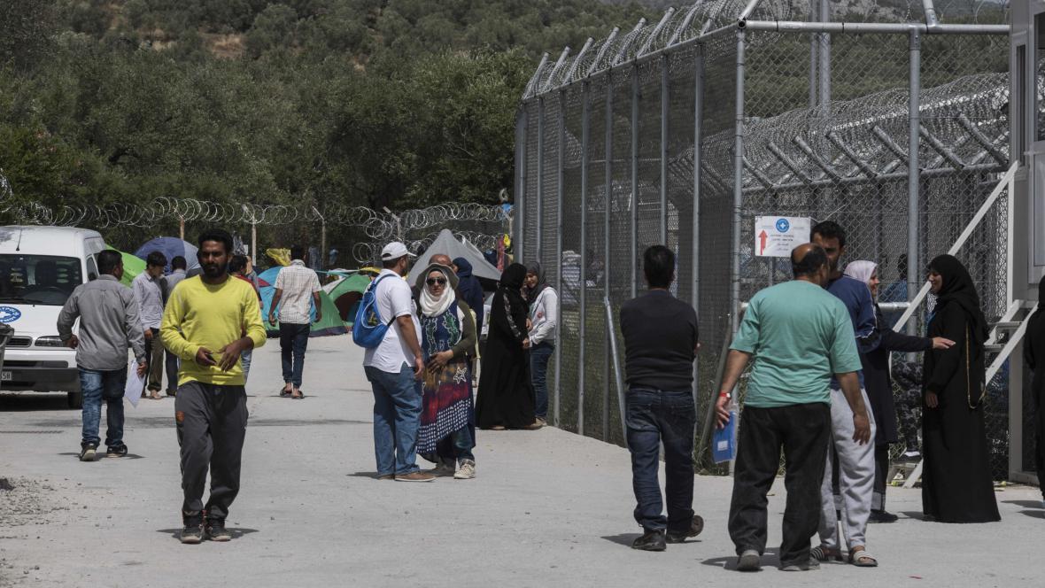 Tábor Moria na ostrově Lesbos