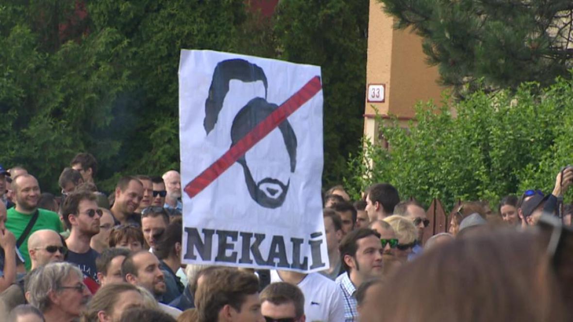 Protest proti Ficovi a Kaliňákovi