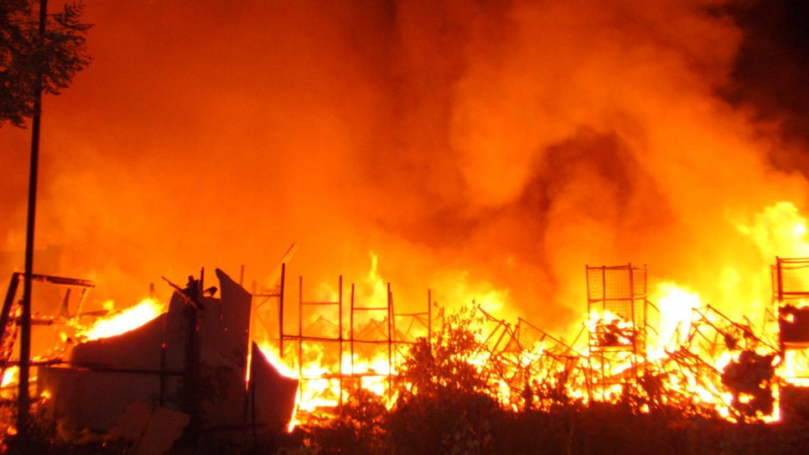 Požár olomoucké textilky