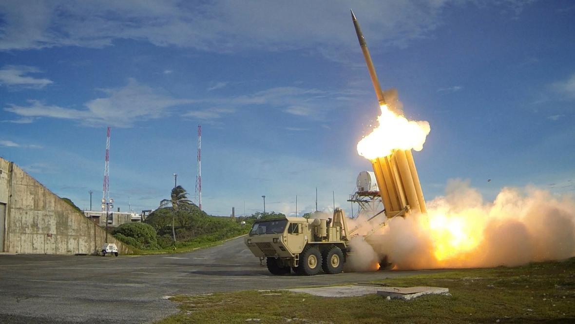 Test protiraketové obrany THAAD