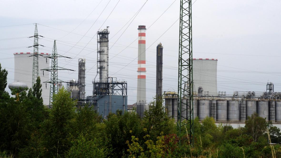 Petrochemický areál Unipetrolu v Záluží u Litvínova