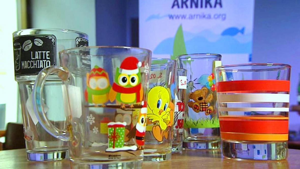 Arnika testovala skleničky s potiskem