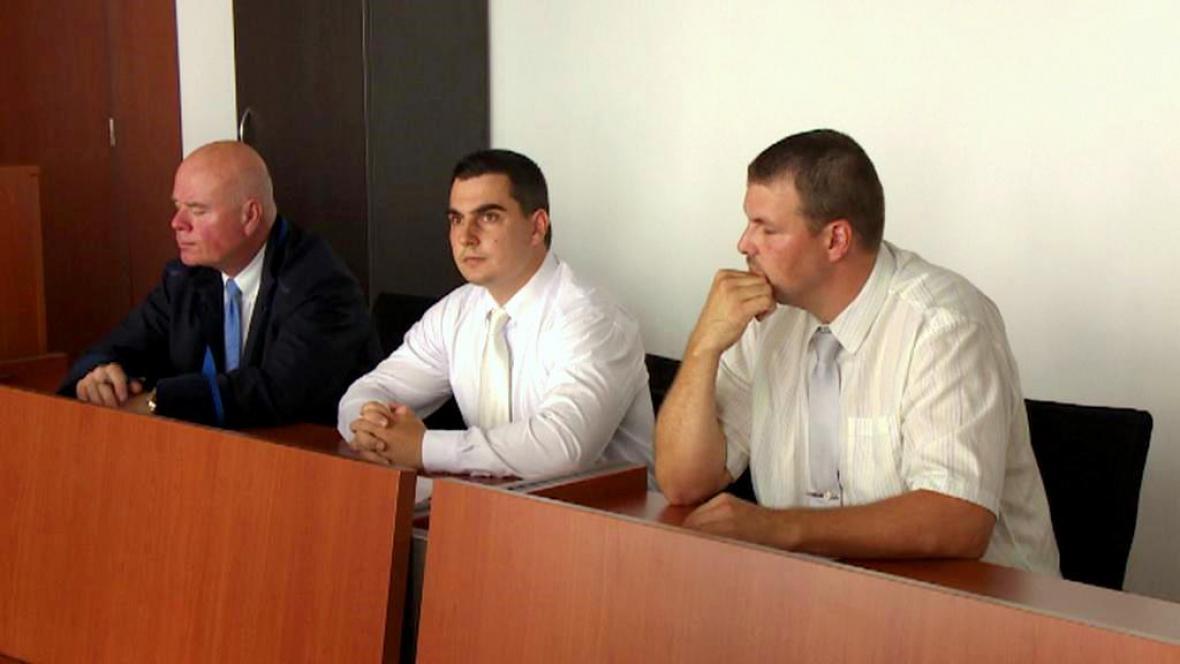 Vítězslav Novák a Pavel Herink u soudu