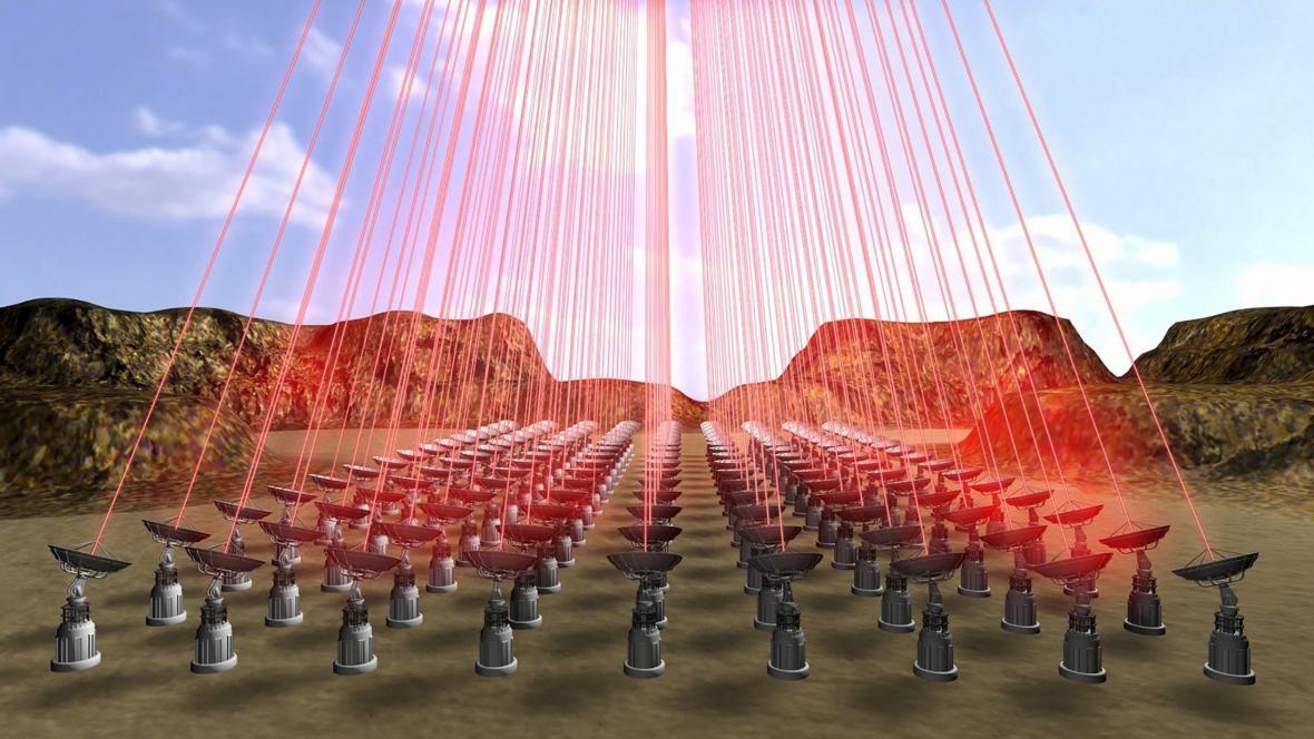 Lasery mise Breakthrough Starshot