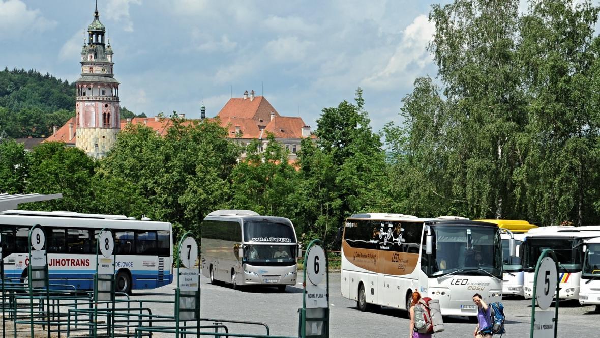 Autobusové nádraží v Českém Krumlově