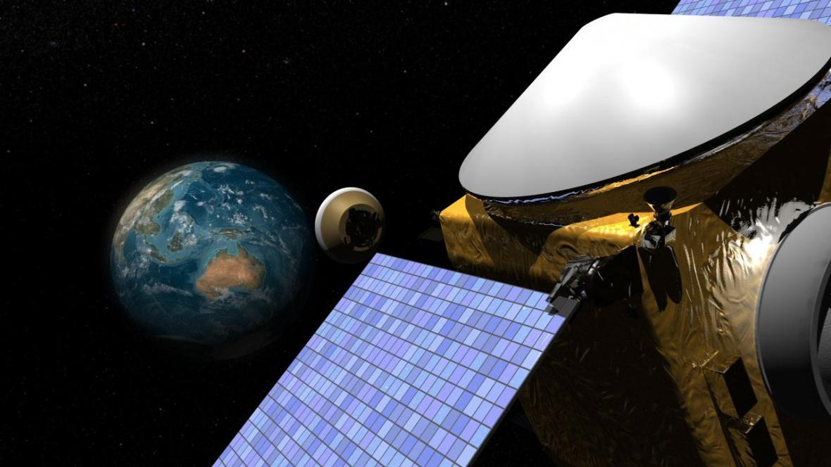 OSIRIS-REx na cestě od Země k asteroidu Bennu